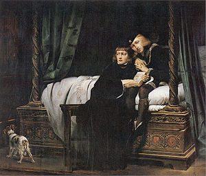 Edward V i jego brat Ryszard w Tower. Obraz Paula Delaroche'a