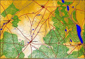 Teren bitwy pod Grunwaldem tak, jak prawdopodobnie wyglądał na początku XV wieku
