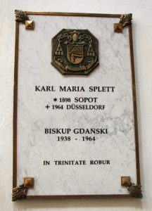 Tablica w Katedrze Oliwskiej