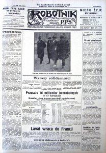Strona tytułowa gazety z 28 października 1931 r.
