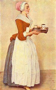 """""""Dziewczyna z czekoladą"""" Jean-Étienne Liotard (1744)"""