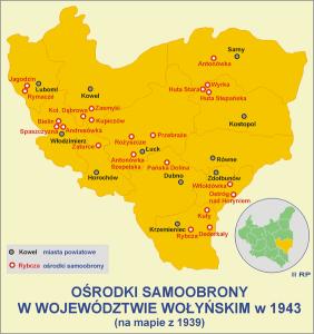 Ośrodki polskiej samoobrony na Wołyniu w 1943