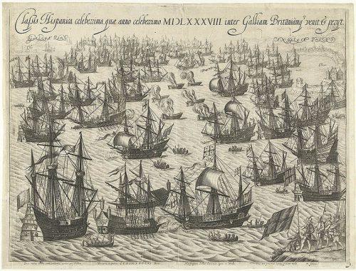 Klęska Wielkiej Armady, sztych z przełomu XVI i XVII wieku