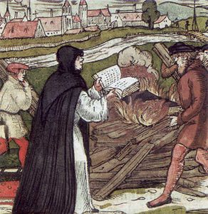 Luter palący bullę papieską