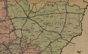 Mapa administracyjna województwa wołyńskiego, 1939 r.