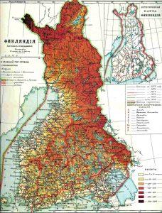 Mapa Wielkiego Księstwa Finlandii