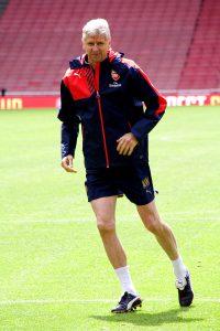 Wenger w czasie treningu