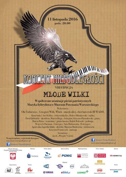 Plakat Koncertu Niepodległości 2016