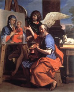Łukasz Malujący ikonę Maryi z Dzieciątkiem
