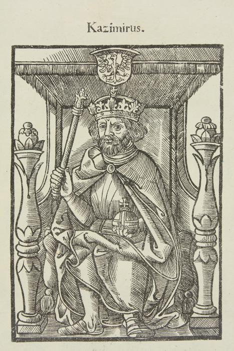 Kazimierz Wielki na drzeworycie